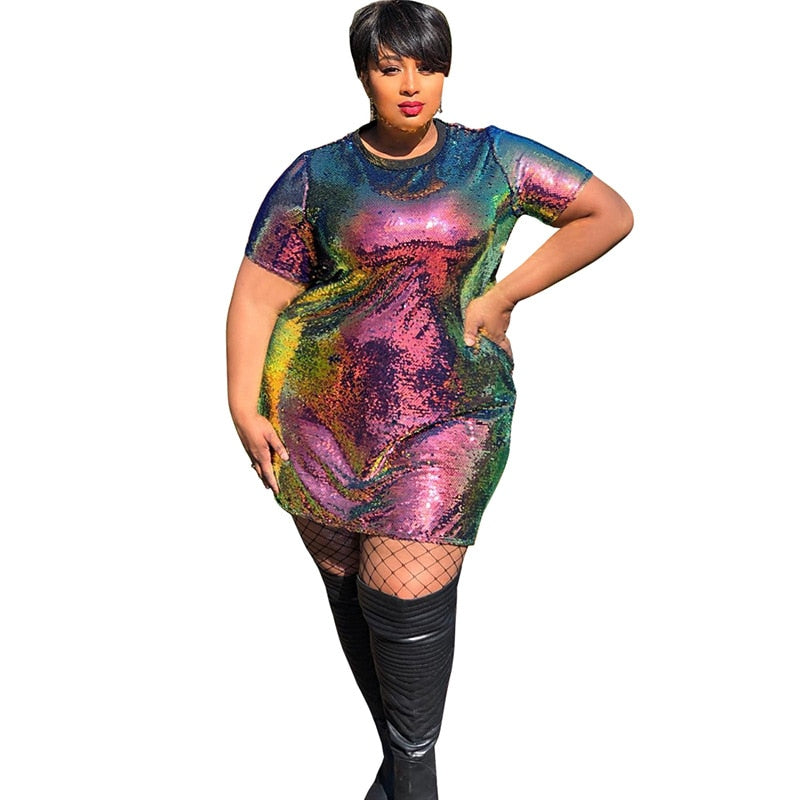 Plus Size June Bug Sequence Shirt Dress