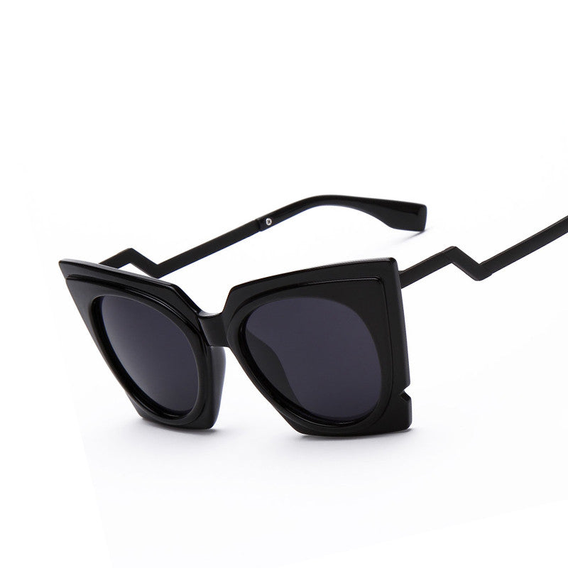 Square Cat Eye Zig Zag Sunglasses