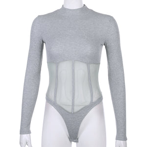 See your Ribs Long sleeve Bodysuit