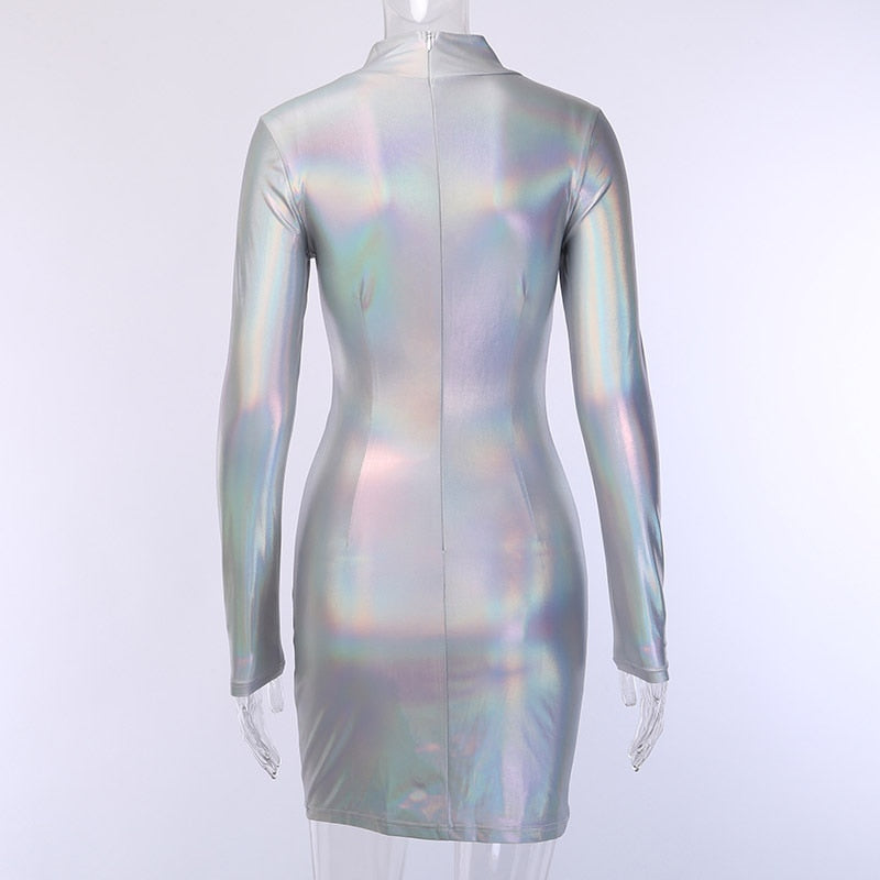 Festi-Queen Holo Mini Dress