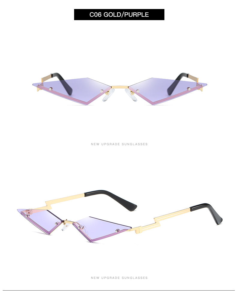 Diamond Eye Mirror Sunglasses