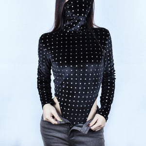 Mask Neck Bling Bodysuit