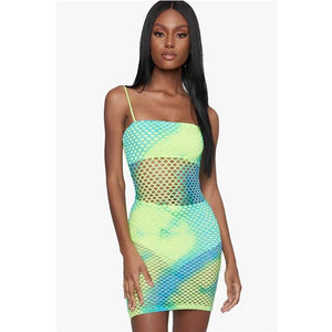 Cat-Fishing Fishnet Dress
