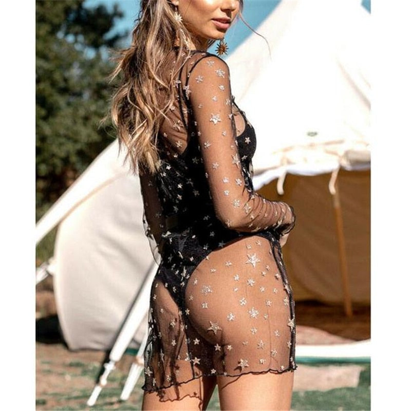 Stargazer Mesh Cover up Dress