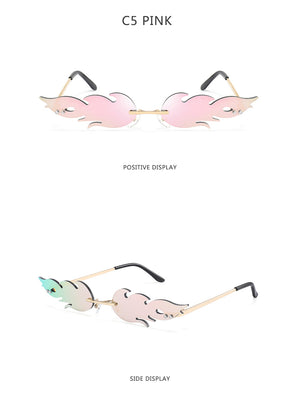 Young Flame Rimless Sunglasses