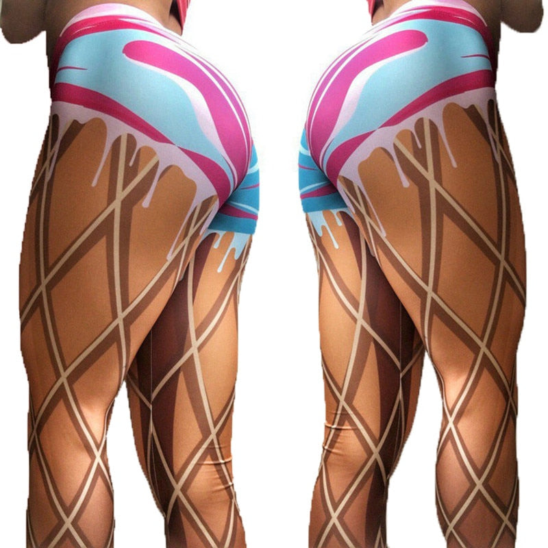 Ice Cream Cone Leggings