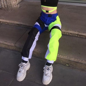 Neon Butterfly Jogger Pants