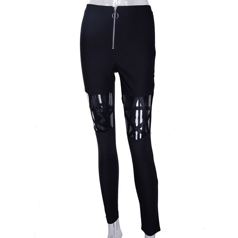 Hollow Star Skinny Pants