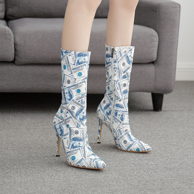 Money Short Boot Stilettos