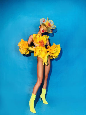Yellow Orchid Costume
