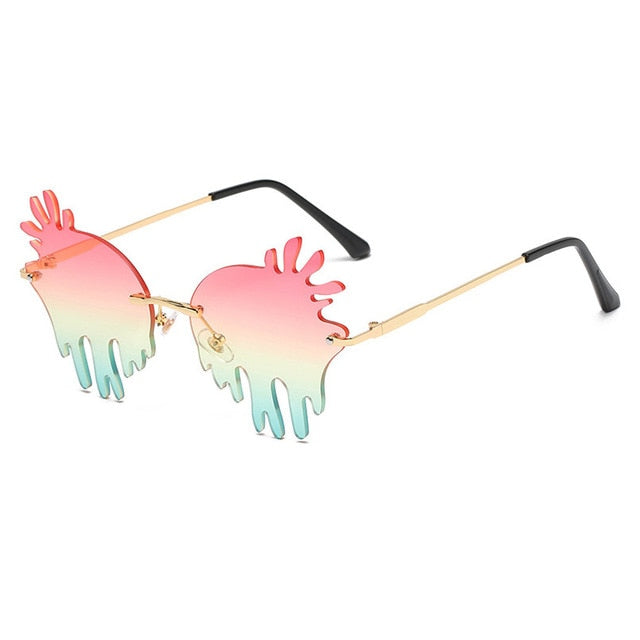 Splash Rimless Sunglasses