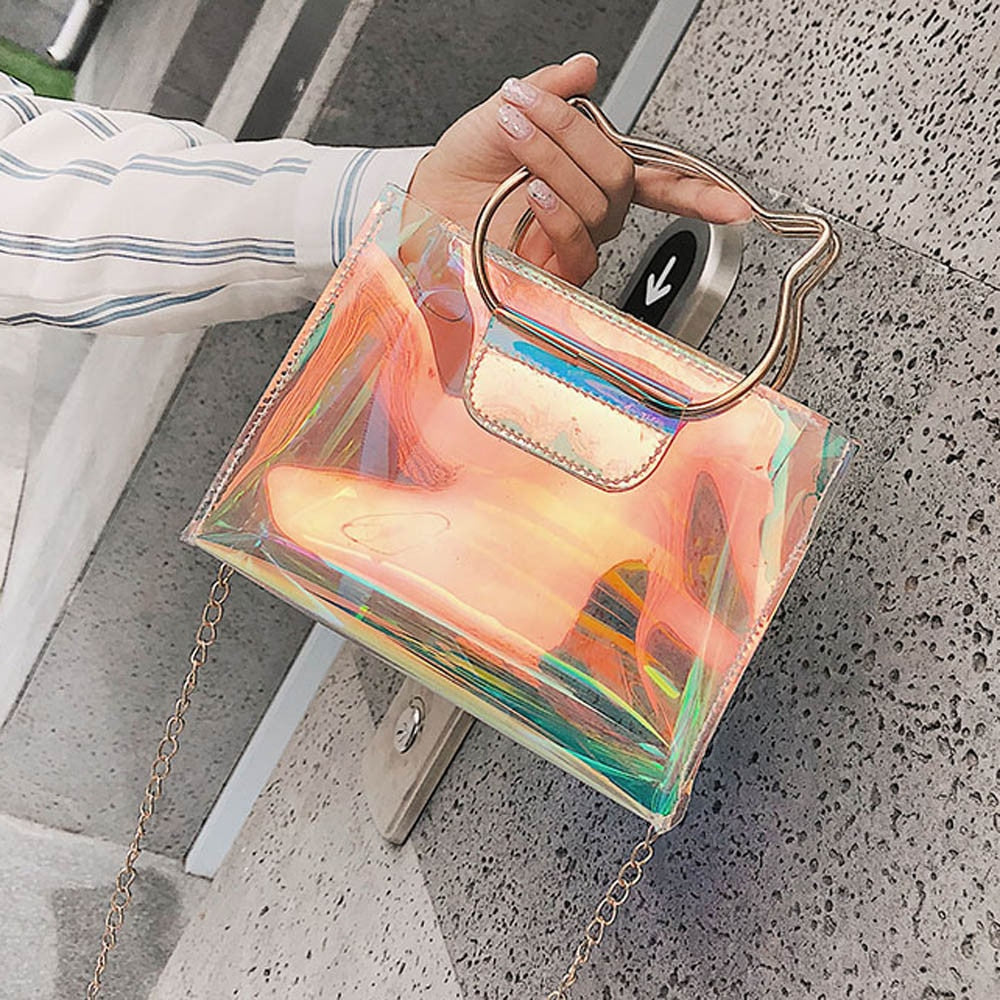 Holo Cat Clutch Bag