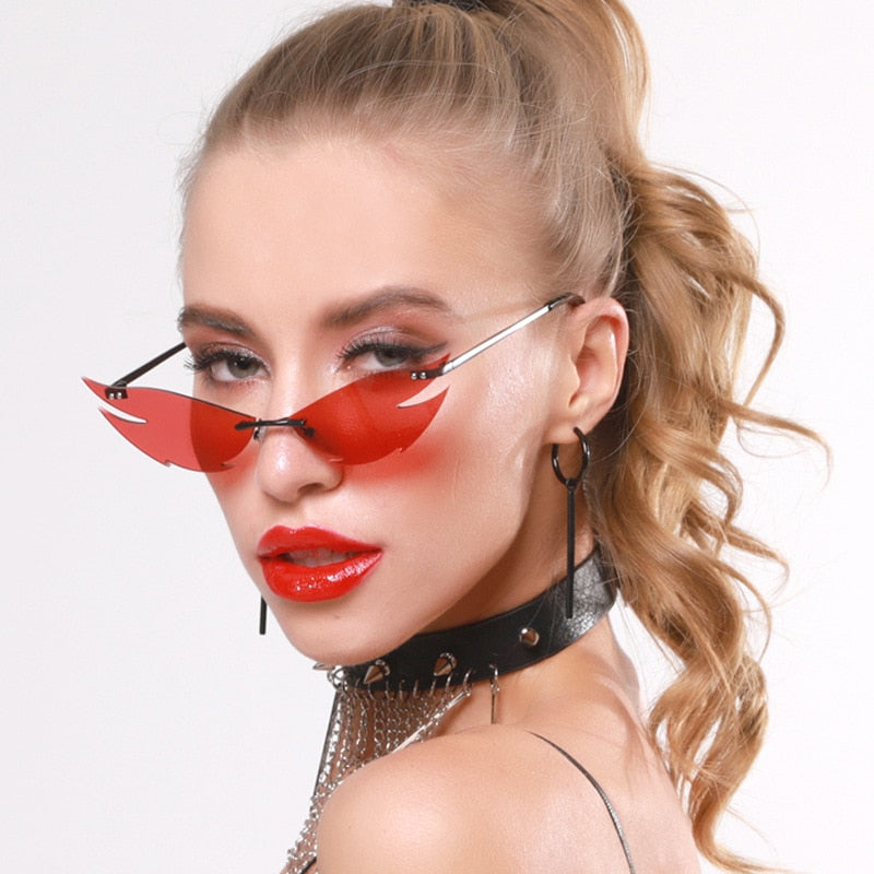 Lash Wing Rimless Sunglasses