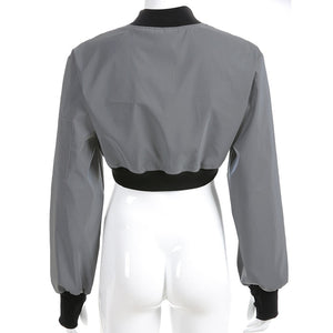 Reflective Cropped Shrug Jacket