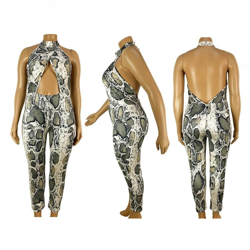 Plus Size Slither Halter Jumpsuit
