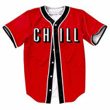 Netflix & Chill Baseball Button Up