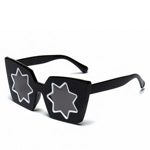 Starburst Mirror Square Frame Shades