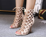 Lace up Cage Ankle Boot Sandals