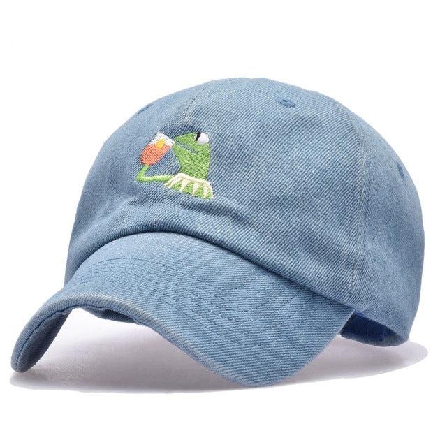 Kermit meme none of my business dad cap