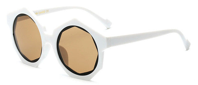 Hexagonal Frame Sunglasses