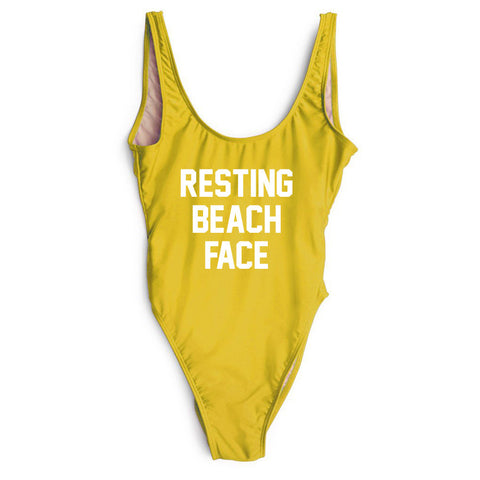 Resting Beach Face One piece Swimsuit