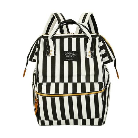 Striped College Bag Backpack