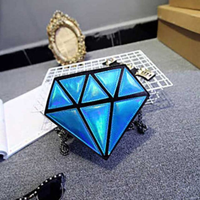 Diamond Hologram Cross body Bag