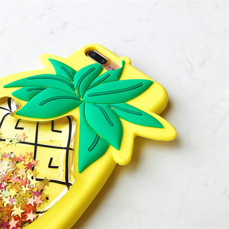 Pineapple Liquid Gold Glitter Case