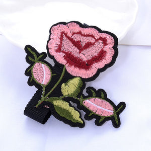 Rose Applique Boho Choker