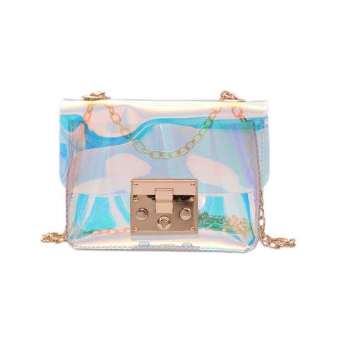 Transparent Holo Mini Shoulder Bag