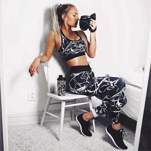 Hard as Marble Stone Fitness Pants Set