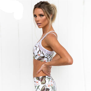 Ramona Floral Mesh Two Piece Fitness Set