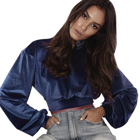 Velvet Crop Blouse
