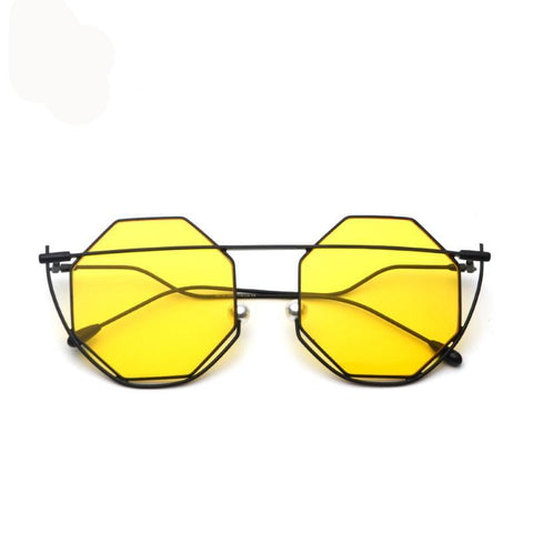 Hexagon Tinted Sunglasses