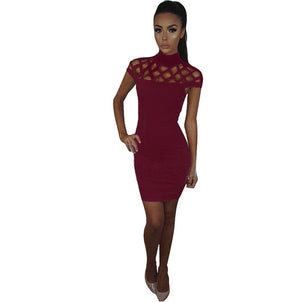 Cage Top Cocktail Dress