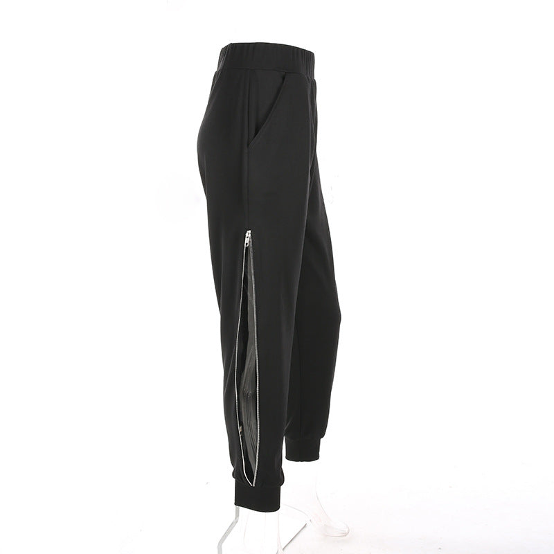 Side Creeper Zip Up Trousers