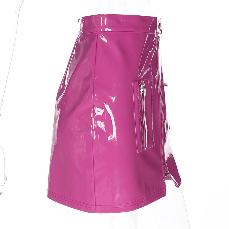 Wet & Wild Pink Zip Skirt