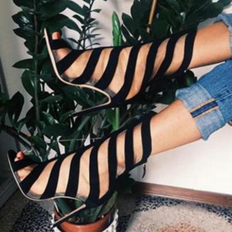 Spiral Cage Open Boot Sandals