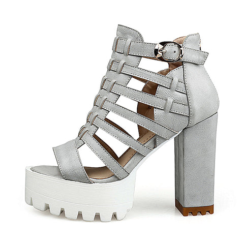 When in Rome Gladiator Platform Sandals