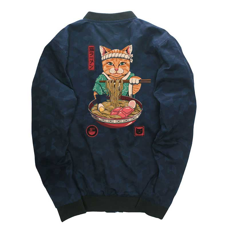 Neko Ramen Cat Bomber Jacket