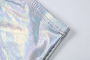 Holographic Bikini skirt set