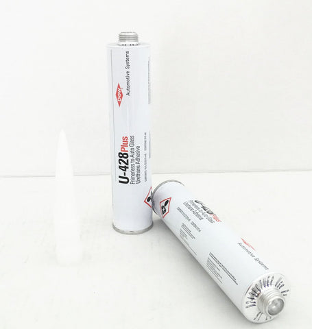 2 Tube of DOW U-428 Plus Auto Glass Windshield Urethane Primerless Adhesive Glue Sealant