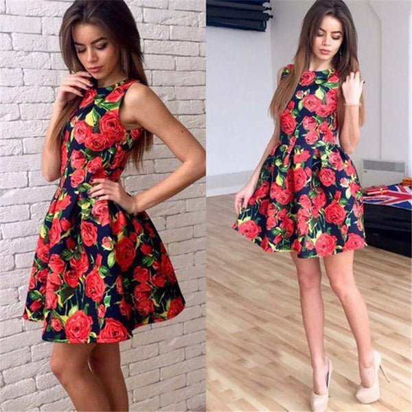 Lora Elegant Party Floral Dress