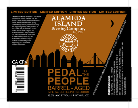 Coffee Beer Collaboration with Alameda Island Brewing Company