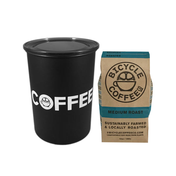 Coffee Canister & 12 oz Bag Bundle