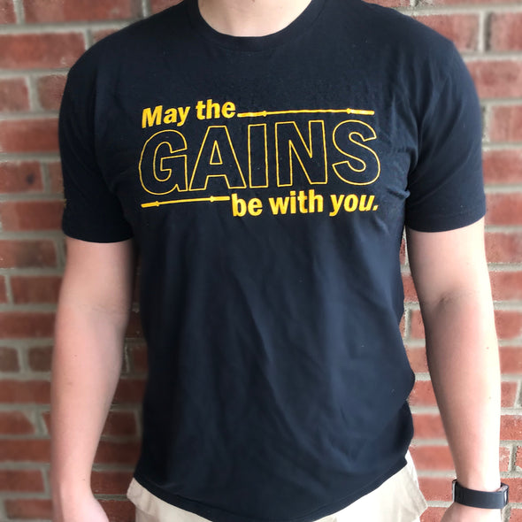 """May The GAINS Be With You"" T-Shirt"