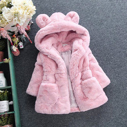 Baby Infant Girls Autumn Winter Hooded Coat Cloak