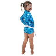 Kid's Rashguards & Shorts - Blue Fish