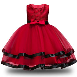 Toddler Girls Tutu Dress Sequins & Flower