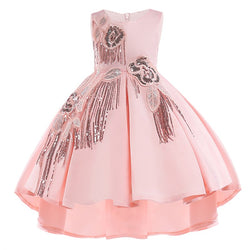 Kids Petals Lace Girls Dresses